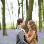 Spring engagement shoot in bluebells