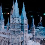 Close up of the Hogwarts Castle