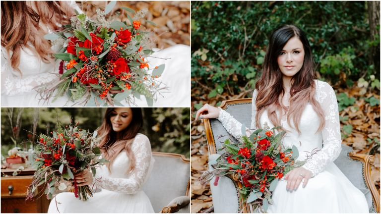 Boho autumn wedding at Longton Wood