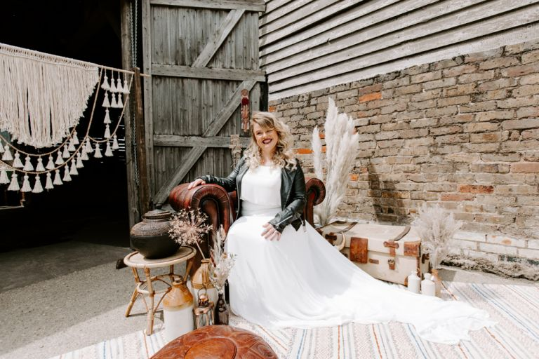 Bride at the Barns at Lodge Farm in Nazeing