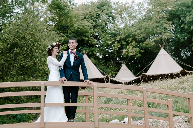 Country Tipis wedding in Hertfordshire