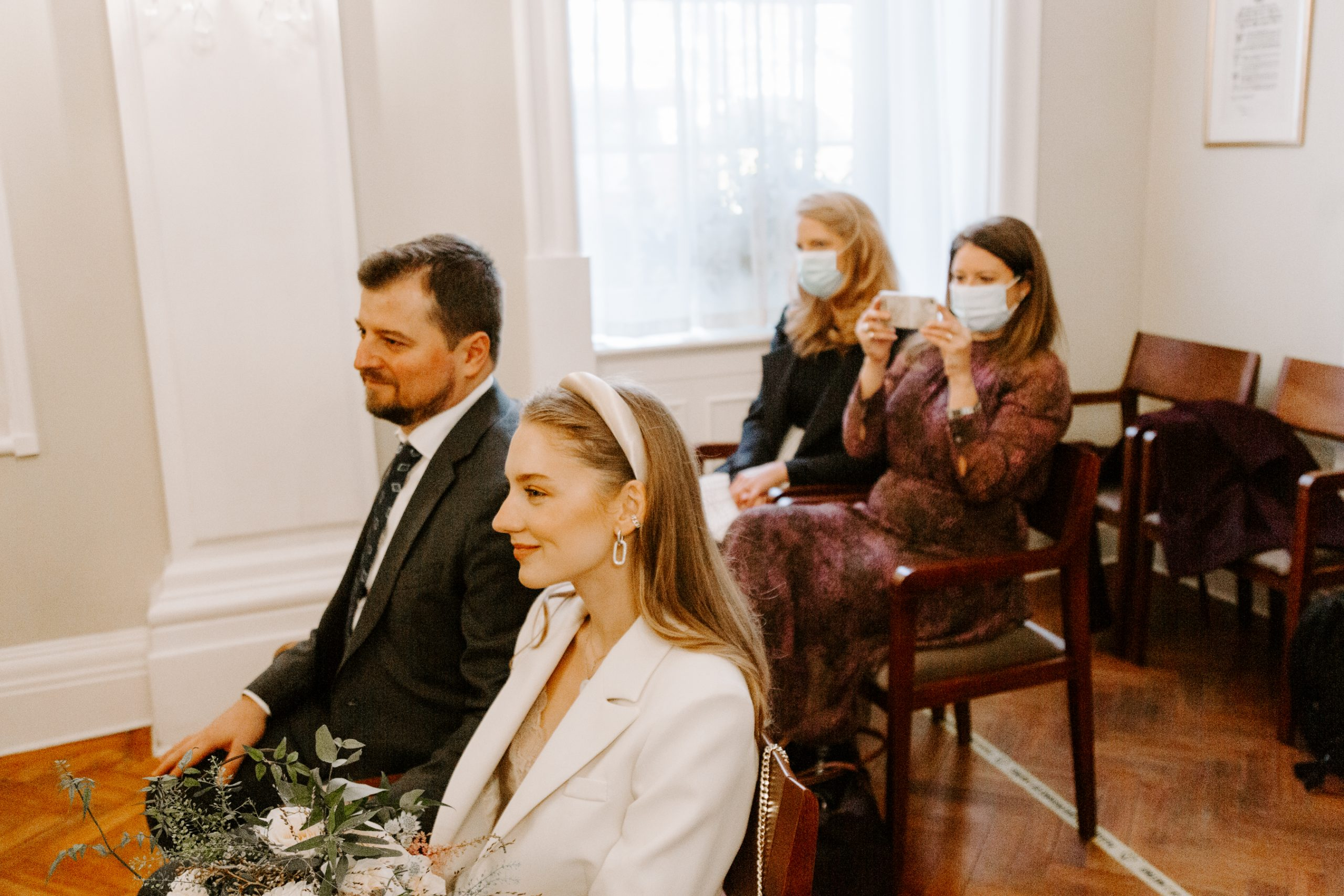 Chelsea Town Hall wedding ceremony during COVID