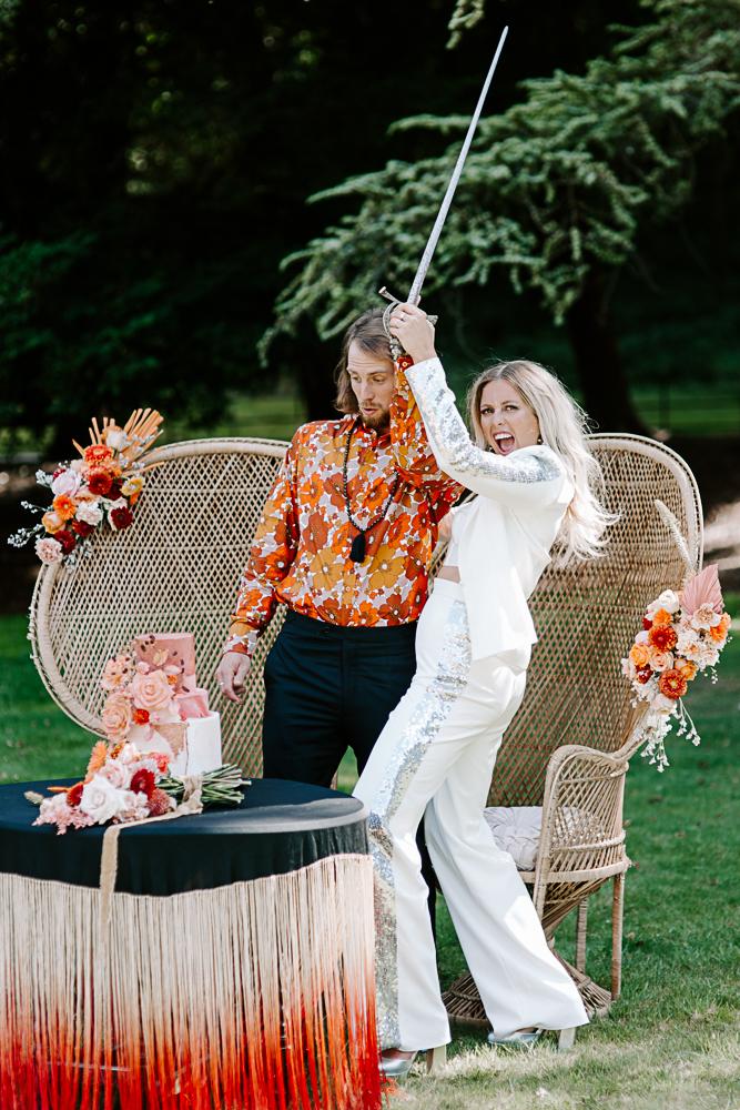 Fun Surrey wedding photography