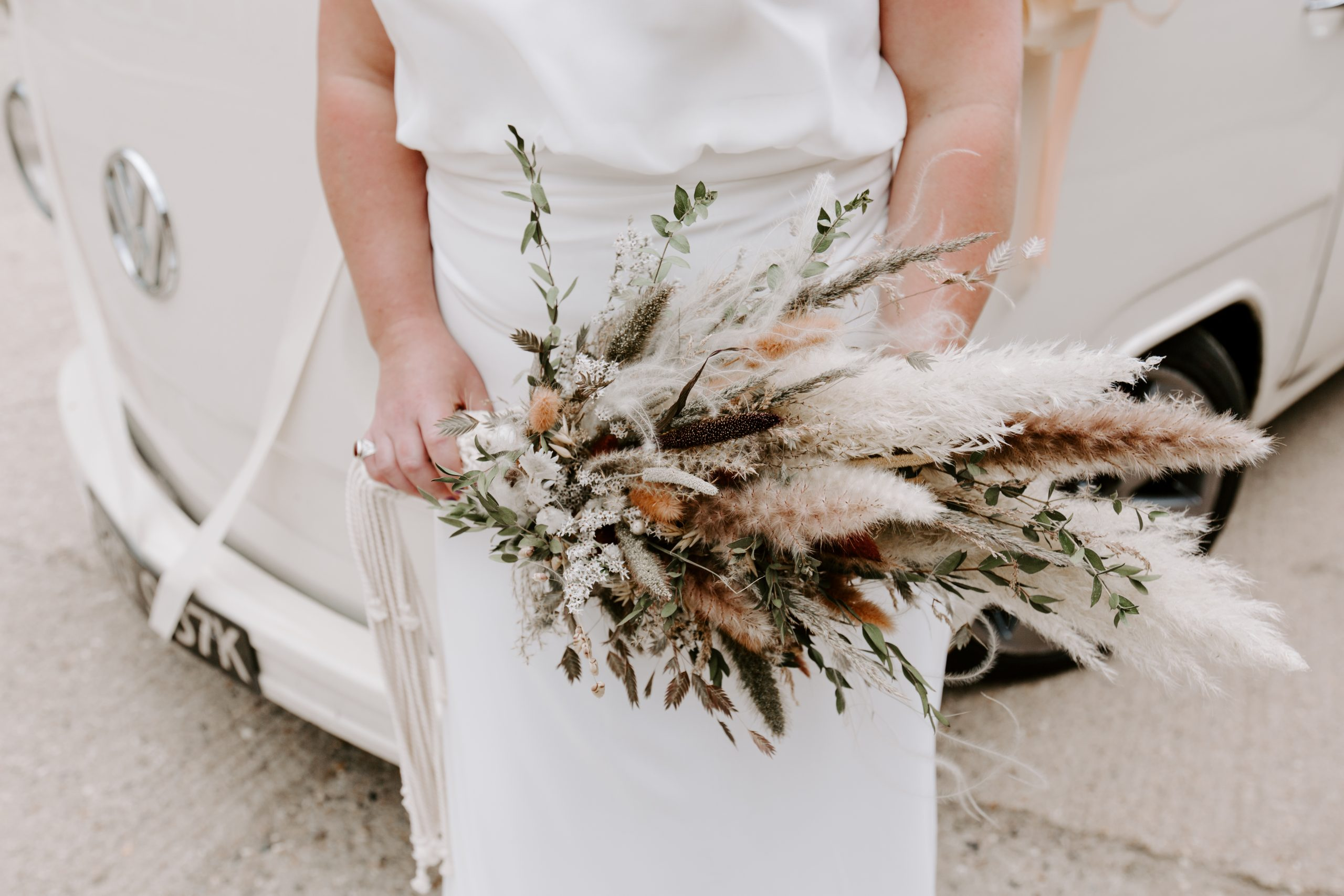 Rustic wedding bouquet at the Barns at Lodge Farm