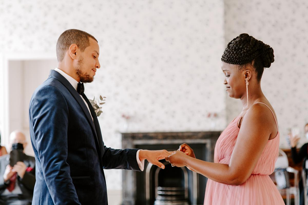 Valentines Mansion wedding ceremony
