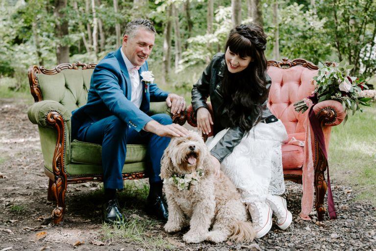 Dog friendly wedding in Essex